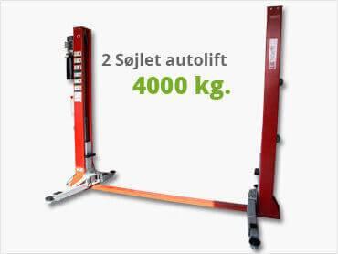 2 søjlet autolift 4000 kg